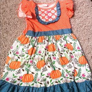 Boutique fall pumpkins toddler dresses
